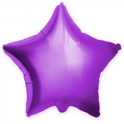 """Фольгированный шар """"Фиолетовая звезда, глянец"""" 18″ (46 см)"""