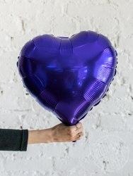"""Фольгированный шар """"Фиолетовое Сердце"""" 18″ (46 см)"""