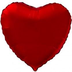 """Фольгированный шар """"Красное Сердце"""" 18″ (46 см)"""