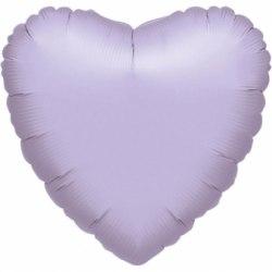"""Фольгированный шар """"Сиреневое Сердце"""" 18″ (46 см)"""