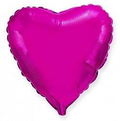"""Фольгированный шар """"Сердце Фуксия"""" 18″ (46 см)"""
