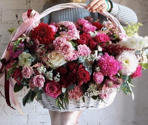 "Корзина с цветами ""Для любимой"""