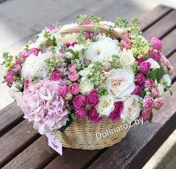"""Корзина с цветами """"Цветочная Роскошь"""""""