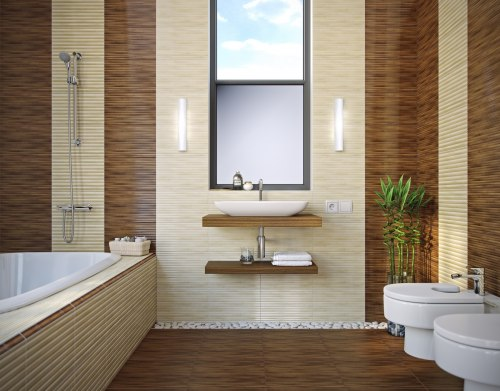 Фриз Golden Tile Bamboo коричневый 40х3