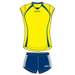 Форма Asics волейбольная Womens Sleeveless Game + Short Lady Asics T204Z1/T205Z1-00QV/0050