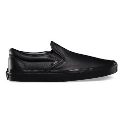 Слипоны Vans кожаные Vans Spring 15 U CLASSIC SLIP ON (Premium Leather) Black/Mono Vans V-4518