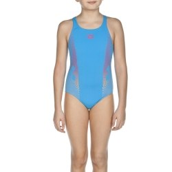 Купальник Arena Kids G ESPIRAL JR ONE PIECE turquoise, fresia_rose Arena 2A069-89