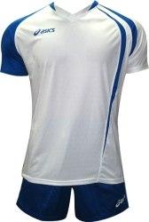 Форма Asics волейбольная Mens (футболка+шорты) T-Shirt Fan Man+Short Zona бел син Asics T750Z1/T605Z1-0143/0043