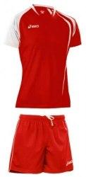 Форма Asics волейбольная Mens (футболка+шорты) T-Shirt Fan Man+Short Zona красн Asics T750Z1/T605Z1-2601/0026