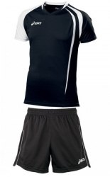 Форма Asics волейбольная Mens (футболка+шорты) T-Shirt Fan Man+Short Zona черн Asics T750Z1/T605Z1-9001/0090