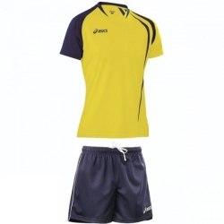 Форма Asics волейбольная Mens (футболка+шорты) T-Shirt Fan Man+Short Zona желт темн-син Asics T750Z1/T605Z1-QV50/0050