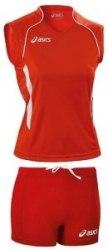 Форма Asics волейбольная Womens (майка+тайтсы) T-Shirt Fanny Lady+Short Lady красн Asics T751Z1/T602Z1-2601