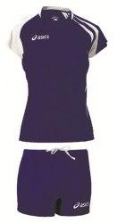 Форма Asics волейбольная Womens (майка+тайтсы) T-Shirt Fanny Lady+Short Lady син Asics T751Z1/T602Z1-4301