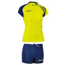 Форма Asics волейбольная Womens (майка+тайтсы) T-Shirt Fanny Lady+Short Lady желт темн-син Asics T751Z1/T602Z1-QV50