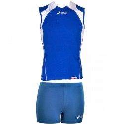 Форма Asics для волейбола Womens Short League форма (майка+тайтсы) Singlet Aruba син Asics T603Z1/T602Z1-4301/0043