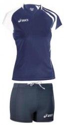 Форма Asics волейбольная Womens Short League форма (майка+тайтсы) Singlet Aruba темн-син Asics T603Z1/T602Z1-5001/0050