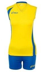 Форма Asics волейбольная Womens Set Fly Lady син желт Asics T226Z1-QV43