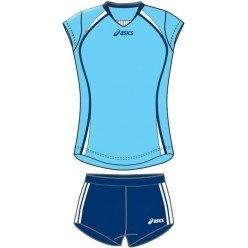 Форма Asics волейбольная Womens (майка+тайтсы) Sleeveless Game + Short Lady голуб черн Asics T204Z1/T205Z1-00GJ/0090