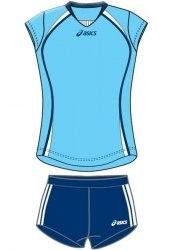 Форма Asics волейбольная Womens (майка+тайтсы) Sleeveless Game + Short Lady голуб темн-син Asics T204Z1/T205Z1-00GJ/0050