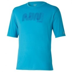 Футболка Asics Mens Graphic Ss Top голуб Asics 121652-8046