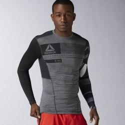Компрессионная футболка с длинным рукавом Mens ONE Series ACTIVChill Reebok AZ6894 (последний размер)