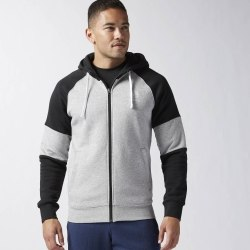 Толстовка Reebok F FZ FLEECE BLOCKED HOODY Mens Reebok AY0733