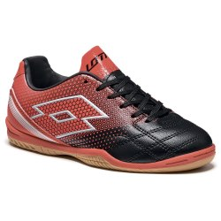 Футзалки детские SPIDER 700 XIII ID JR BLACK/RED WARM Lotto S7194