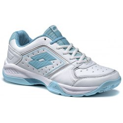Кроссовки для тенниса женские T-TOUR IX 600 W WHITE/BLUE TAHITI Lotto S7336