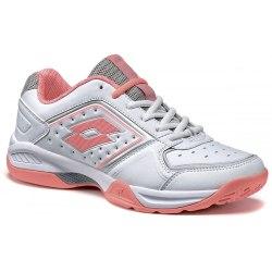 Кроссовки для тенниса женские T-TOUR IX 600 W WHITE/ROSE NEON Lotto S7338