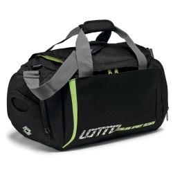 Сумка спортивная BAG LOGO BLACK/GREEN LIGHT BAY Lotto S7445