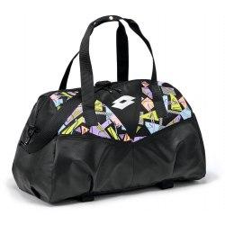 Сумка спортивная женская BAG FITNESS W II BLACK/SILVER METAL Lotto S7447