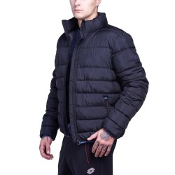 Куртка утепленная мужская JONAH III BOMBER PAD BLACK Lotto S9341 (последний размер)