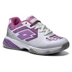 Кроссовки для тенниса детские STRATOSPHERE IV JR L WHITE/PINK MAGENTA Lotto S9470