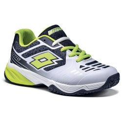 Кроссовки для тенниса детские STRATOSPHERE IV JR L WHITE/YELLOW SAFETY Lotto S9471