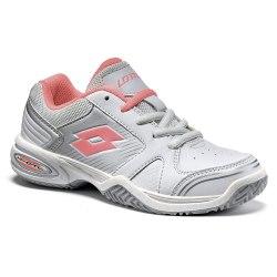 Кроссовки для тенниса детские T-STRIKE III CL L WHITE/ROSE NEON Lotto S9479