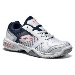 Кроссовки для тенниса детские T-STRIKE III JR L WHITE/SILVER METAL Lotto S9483