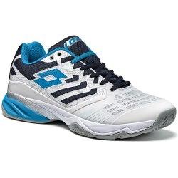 Кроссовки для тенниса мужские ULTRASPHERE ALR WHITE/BLUE EGO Lotto T3330