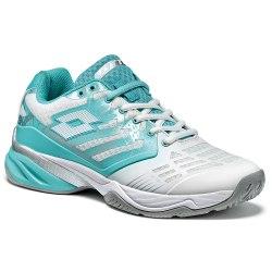 Кроссовки для тенниса женские ULTRASPHERE ALR W WHITE/GREEN THAI Lotto T3346