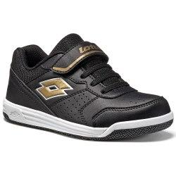 Кроссовки для тенниса детские SET ACE XII CL SL BLACK/GOLD STAR Lotto T4166