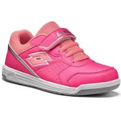 Кроссовки для тенниса детские SET ACE XII CL SL FLUO CORAL/ROSE NEON Lotto T4168