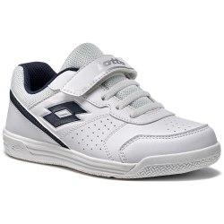 Кроссовки для тенниса детские SET ACE XII CL SL WHITE/BLUE AVIATOR Lotto T4169