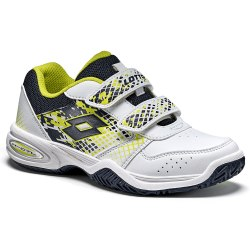 Кроссовки для тенниса детские T-STRIKE IV CL S WHITE/BLUE AVIATOR Lotto T4171