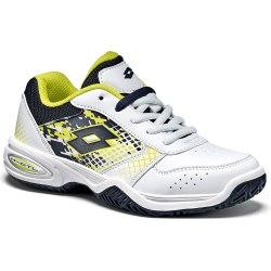Кроссовки для тенниса детские T-STRIKE IV JR L WHITE/BLUE AVIATOR Lotto T4174