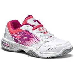 Кроссовки для тенниса детские T-STRIKE IV JR L WHITE/PURPLE JAM Lotto T4175