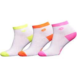 Носки WOMAN LOW CUT SOCKS NEON WHITE Lotto F_KRIS_BI