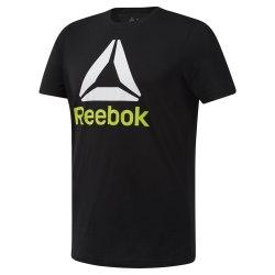 Футболка мужская QQR- Reebok Stacked BLACK|WHIT Reebok DU4691