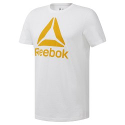 Футболка мужская QQR- Reebok Stacked WHITE|SESO Reebok DU4692