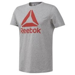 Футболка мужская QQR- Reebok Stacked MGREYH|CAN Reebok DU4693