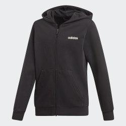 Толстовка детская Adidas YB E LIN FZ HD BLACK|WHIT Adidas DV1792