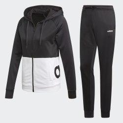 Спортивный костюм женский WTS Lin FT Hood BLACK|WHIT Adidas DV2425 (последний размер)